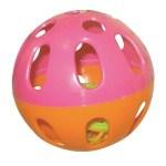 Happy pet speelbal knaagdier plastic assorti (6,5X6,5X6,5 CM)