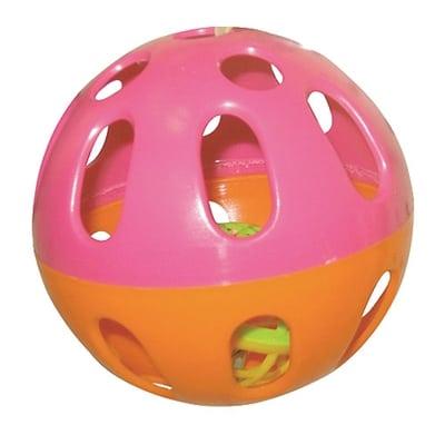 Happy pet speelbal knaagdier plastic assorti (9X9X9 CM)