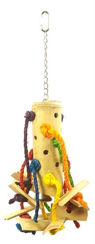 Happy pet vogelspeelgoed puzzel bamboe