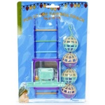 Happy pet bird toy mp bal/ladder/perch (22X10X4 CM)