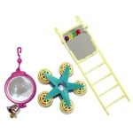 Happy pet bird toy mp spiegel/ladder/carousel (20X9X4 CM)