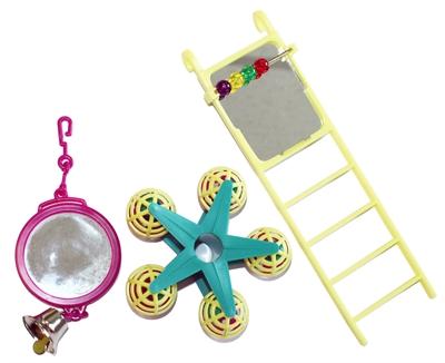 Happy pet bird toy mp spiegel/ladder/carousel (20X9X4 CM)