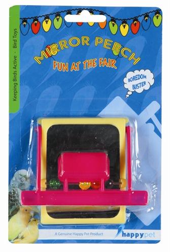Happy pet fun at the fair mirror perch