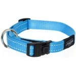 Rogz for dogs fanbelt halsband turquoise (20 MMX34-56 CM)