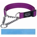 Rogz for dogs fanbelt choker turqouise (20 MMX34-56 CM)