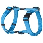 Rogz for dogs snake tuig turquoise (16 MMX32-52 CM)