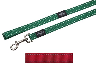 Rogz for dogs fanbelt long lijn rood (20 MMX1,8 MTR)