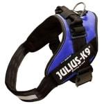 Julius k9 power-harnas/tuig voor labels blauw (MAAT 0/58-76 CM)