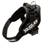 Julius k9 idc power-harnas/tuig voor labels zwart (MAAT 1/66-81 CM)