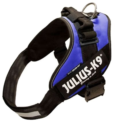 Julius k9 power-harnas/tuig voor labels blauw (MAAT 3/85-112 CM)