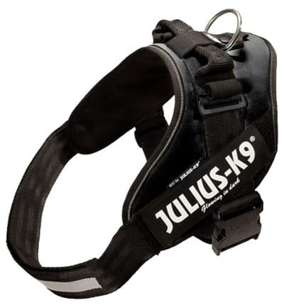 Julius k9 idc power-harnas/tuig voor labels zwart (MAAT 3/85-112 CM)