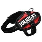 Julius k9 power-harnas/tuig voor labels rood (BABY 2/35-43 CM)