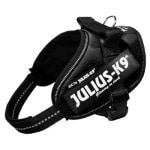 Julius k9 idc power-harnas/tuig voor labels zwart (MINI/49-67 CM)