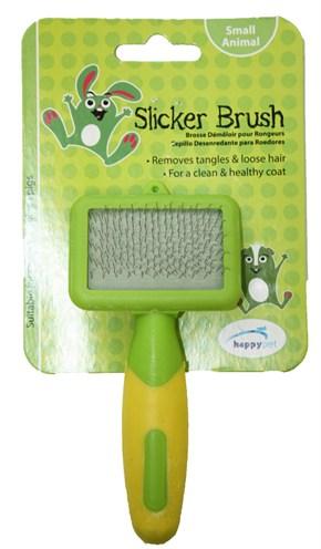 Happy pet knaagdier slicker brush (12X6X2 CM)