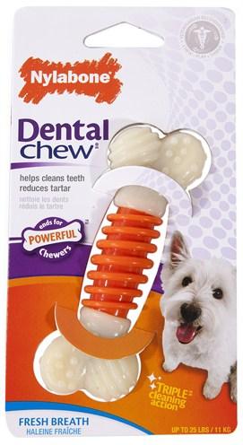Nylabone dental chew baconsmaak (TOT 11 KG)