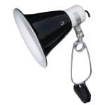 Komodo black dome clamp lamp fixture (14 CM)