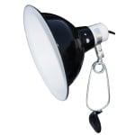 Komodo black dome clamp lamp fixture (21 CM)