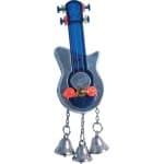 Parkieten speelgoed gitaar met spiegel en bellen (10X6X4 CM)