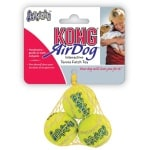 Kong squeakair tennisbal geel met piep (XS 4 CM 3 ST)