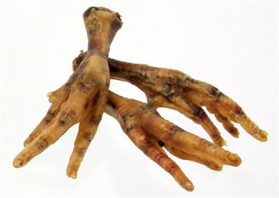 Petsnack kippenpoten gerookt bruin (1 KG)