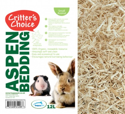Critter's choice aspen bedding (12 LTR 46X37 CM)