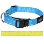Rogz for dogs lumberjack halsband geel (25 MMX43-73 CM)