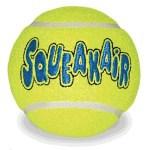 Kong squeakair tennisbal geel met piep (LARGE 8 CM)