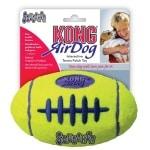 Kong air squeaker football geel (LARGE 17X10,5 CM)