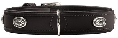 Hunter halsband softie stone art-nubuk zwart zwart onderlegd (46-53X60X3,5 CM)