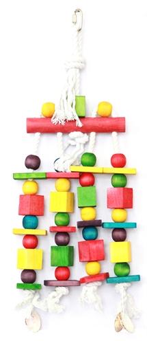 Happy pet speelgoed block n beads papegaai (45X16 CM)