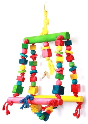 Happy pet speelgoed double swing papegaai (25X44 CM)