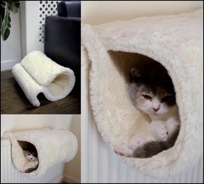 Rosewood radiator tunnel voor kat wit (46X32X28 CM)