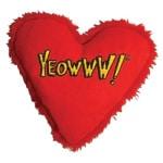 Yeowww hart met catnip rood (10 CM)