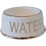 Drinkbak hond water wit/zilver (18 CM)