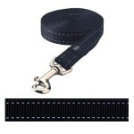 Rogz for dogs snake lijn zwart (16 MMX1,4 MTR)