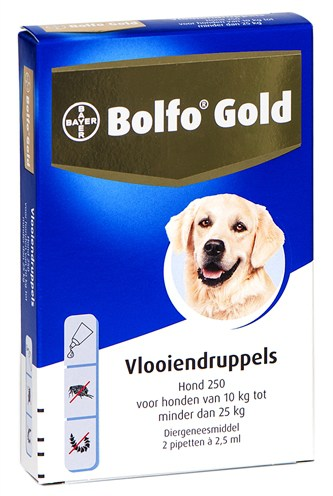 Bolfo gold hond vlooiendruppels (250 2 PIPET)