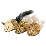 Jolly moggy natural wild speelmuis mini met catnip (3 ST 15 CM)