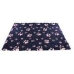 Vetbed poot donkerblauw / roze (50X75 CM)