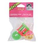 Zolux kattenspeelgoed multi assorti (4 CM 3 ST)