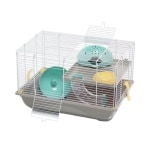 Imac hamsterkooi criceti 9 taupe / mintgroen (45X30,5X29 CM)