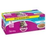 Whiskas multipack pouch adult vis selectie in gelei (40X100 GR)