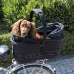 Trixie fietsmand bagage drager breed zwart (60X29X49 CM)