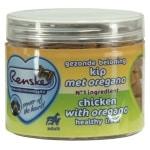 Renske hond gezonde beloning mini hartjes kip / oregano (100 GR)