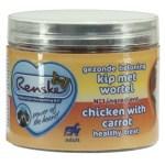 Renske hond gezonde beloning mini hartjes kip / wortel (100 GR)