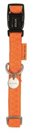 Macleather halsband oranje (15 MMX20-40 CM)