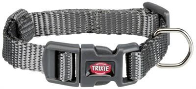 Trixie halsband hond premium grafiet grijs (15-25X1 CM)