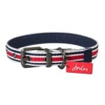 Joules halsband hond coastal gestreept rood (35,5-45,5X2 CM)