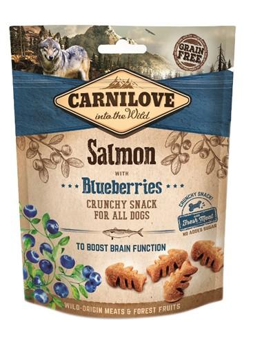 Carnilove crunchy snack zalm / blauwe bes (200 GR)