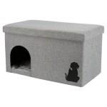Trixie kattenhuis kimy grijs (70X40X40 CM)