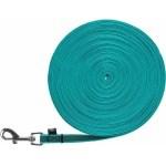 Trixie hondenriem sleeplijn met rubber turquoise (15 MTR X 1,5 CM)